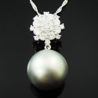 【蕾帝兒珠寶】-雪戀灰色貝珠墬