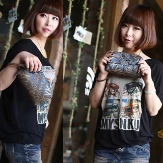 【Acorn*橡果】歐風復古時尚手拿包6523(藍色)