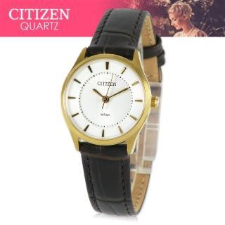 【CITIZEN 日本星辰】日系經典款-小錶面淑女錶(ER0202-02A)