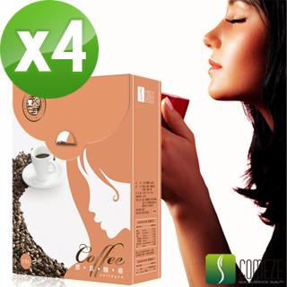 【COMEZE康澤】一泡三享-膠原鈣咖啡(15包/盒_4盒組)
