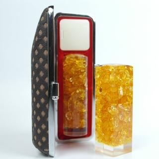 【橙印良品】開運水晶奇緣6圓印章(黃水晶)