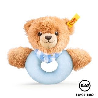 【STEIFF德國金耳釦泰迪熊】Sleep Well Bear Blue(嬰幼兒手搖鈴)