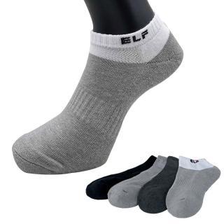 【三合豐 ELF】竹炭除臭健康氣墊運動船襪-6雙(MIT除臭襪 4色)