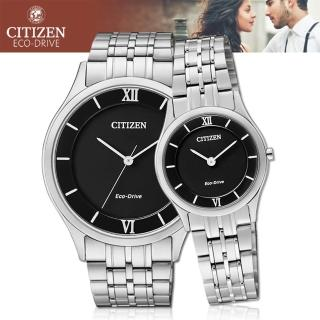 【CITIZEN 日系星辰】甜蜜浪漫情侶對錶(AR0070-51E+EG3220-58E)
