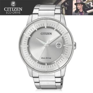 【CITIZEN 日系星辰】銀系列-光動能_日期_防水-紳士錶(AW1260-50A)