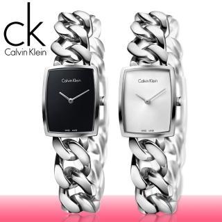 【瑞士 CK手錶 Calvin Klein】造型款不鏽鋼_手鍊式_女錶(K5D2S121_K5D2S126)
