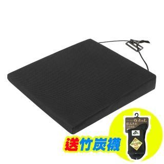 【源之氣】竹炭透氣斜坡記憶坐墊/厚7/3cm RM-9448(黑色)