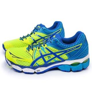 【Asics】男款GEL-PULSE 6 高緩衝慢跑鞋(T4A3N-0751-黃藍)