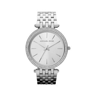 【Michael Kors】光耀晶鑽都會腕錶-銀(MK3190)