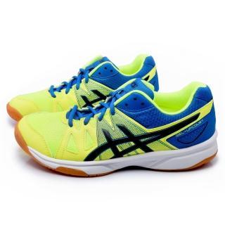 【Asics】男款 GEL-UPCOURT 排羽球運動鞋(B400N-6490-黃藍)