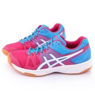 【Asics】女款 GEL-UPCOURT 排羽球運動鞋(B450N-3701-桃藍)