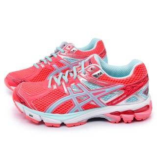 【Asics】女款 GT-1000 3 高支撐型輕量跑鞋(T4K8N-2543-粉橘)