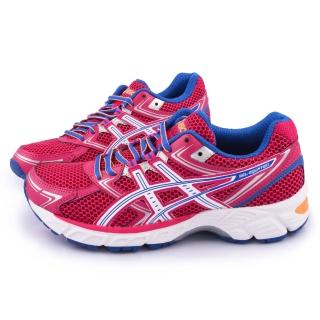 【Asics】女款 GEL-EQUATION 7 輕量慢跑鞋(T3F6N-2043-桃)