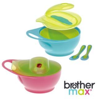 【英國 Brother Max】輕鬆握攜帶型學習碗 附2支感溫湯匙(2入組)