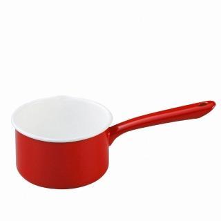 【日本月兔印】琺瑯單手牛奶鍋(紅.14cm)