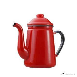【野田琺瑯】咖啡壺(紅)