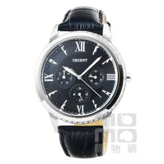 【ORIENT】東方錶晶鑽石英皮帶女錶-黑(FSW03004B)