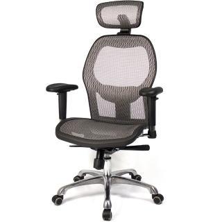 【aaronation愛倫國度】高背透氣尼龍網主管椅(i-213NHSGA-G)