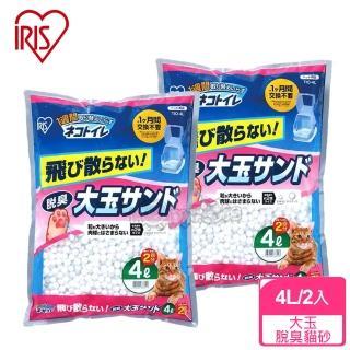 【日本IRIS】大玉脫臭貓砂TIO-4L(2包)