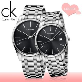 【瑞士 CK手錶 Calvin Klein】甜蜜浪漫情侶對錶(K4N21141+K4N23141)