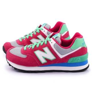 【New Balance】女款 麂皮復古運動鞋(WL574CPV-桃)