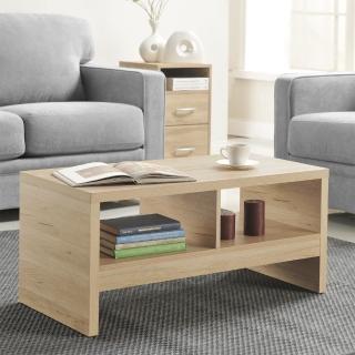 【FUN生活】DIY經典設計優雅小茶几桌/邊桌(淺橡色)