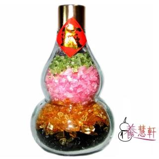 【養慧軒】天然五行水晶葫蘆瓶 擺件(高約11公分)