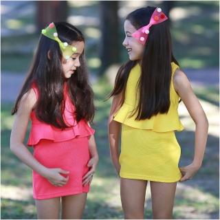 【baby童衣】兒童洋裝 無袖腰傘糖果色窄裙52207(共二色)