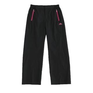 【KAPPA】KAPPA義大利舒適時尚女吸溼排汗風褲(黑)
