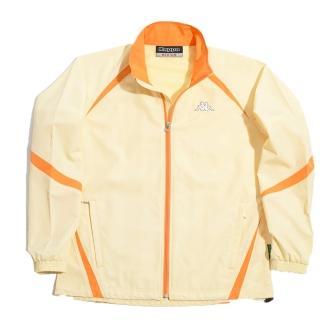 【KAPPA】義大利小朋友吸濕排汗速乾單層風衣(黃-橘)