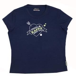 【KAPPA】1件義大利小朋友吸濕排汗速乾彩色圓領衫(丈青/綠色)
