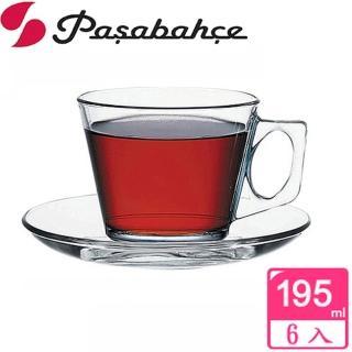 【土耳其Pasabahce】精緻造型咖啡杯盤(六套組)