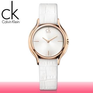 【瑞士 CK手錶 Calvin Klein】甜蜜玫瑰金_皮革款女錶(K2U236K6)