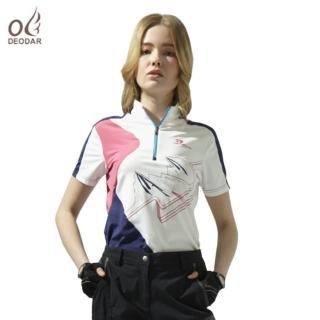 【DEODAR】DEODAR 女款彈性機能吸濕透氣立領衫