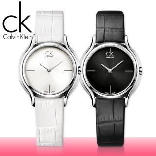 【瑞士 CK手錶 Calvin Klein】甜蜜銀框系列-氣質皮革女錶(K2U231C1-K2U231K6)