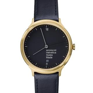 【MONDAINE瑞士國鐵】瑞士國鐵設計系列腕錶(黑/38mm)