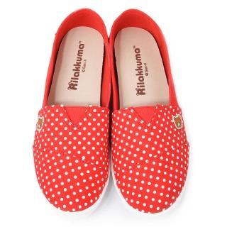 【童鞋城堡】拉拉熊 女款 點點風格懶人休閒鞋(KM8246-紅)