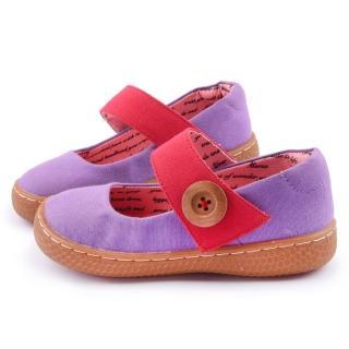 【美國LIVIE & LUCA】中童 卡達簡約手工休閒鞋(Z013-紫)