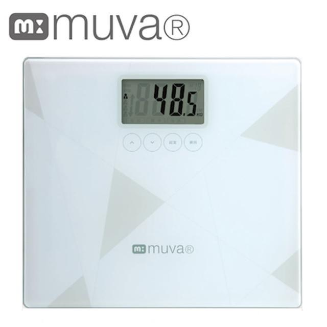 【muva】健康幾何學BMI電子體重計(典雅白)