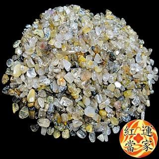 【紅運當家】天然能量鈦晶碎石(淨重600公克  粗顆粒)