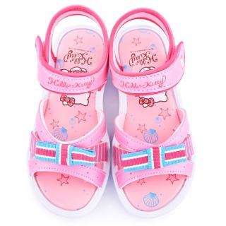 【三麗鷗】Hello Kitty 中大童 學院風典雅涼鞋(815745-粉)