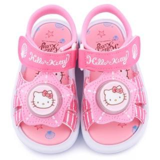 【三麗鷗】Hello Kitty 中童 星星造型LED燈涼鞋(815715-桃)