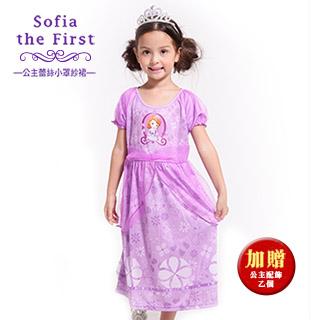 【SuperBO】休閒小洋裝-Sofia公主蕾絲小罩紗裙(短袖)