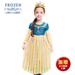 【SuperBO】休閒小洋裝-冰雪奇緣 Anna 加冕禮(薄長袖)