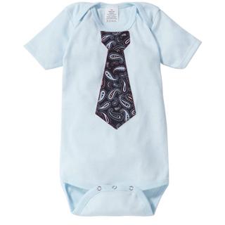 【The Happy Cow】紳士領帶短袖包屁衣-螺旋花紋款