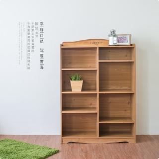【Hopma】英格蘭八格書櫃(蜜糖松)