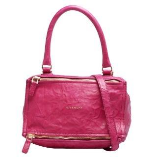 【GIVENCHY】PANDORA水洗棉羊皮手提肩背包(小-玫瑰紅BB05251004-607-ROSE)