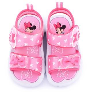 【童鞋城堡】迪士尼 中童 米妮蝴蝶結浪漫涼鞋(453804-粉)