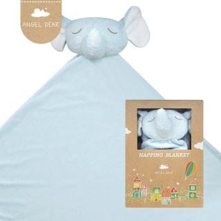 【美國 Angel Dear】大頭動物嬰兒毛毯(藍色小象)