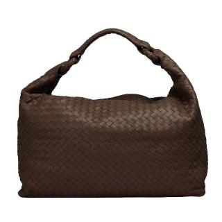 【BOTTEGA VENETA】經典Walnut編織小羊皮肩背包(棕色172918-2515)